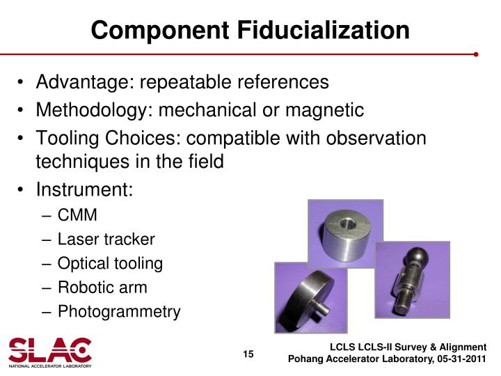 Component Fiducialization