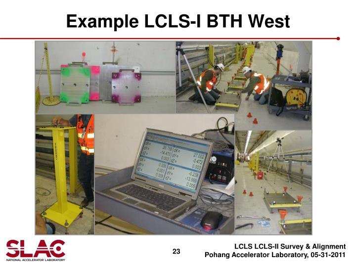 Example LCLS-I BTH West