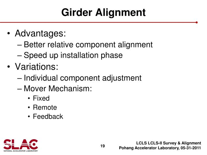 Girder Alignment