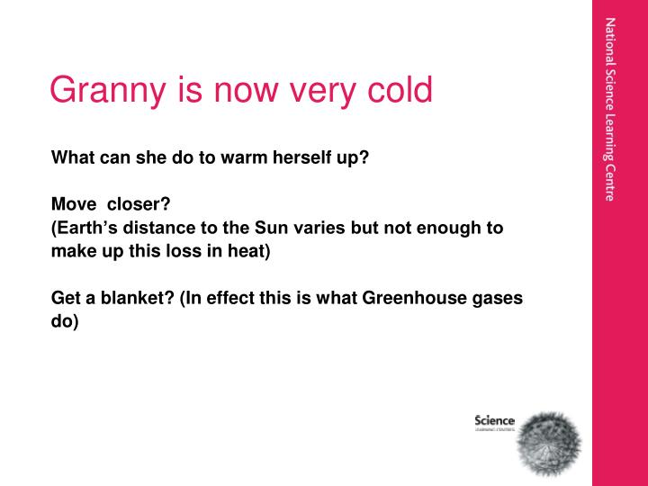 Granny is now very cold