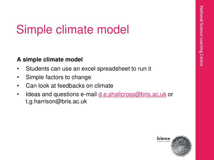 Simple climate model