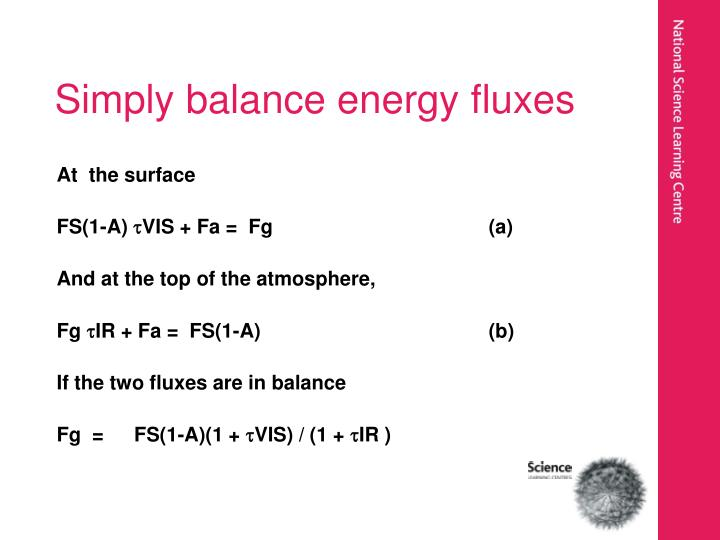 Simply balance energy fluxes