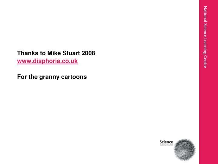 Thanks to Mike Stuart 2008