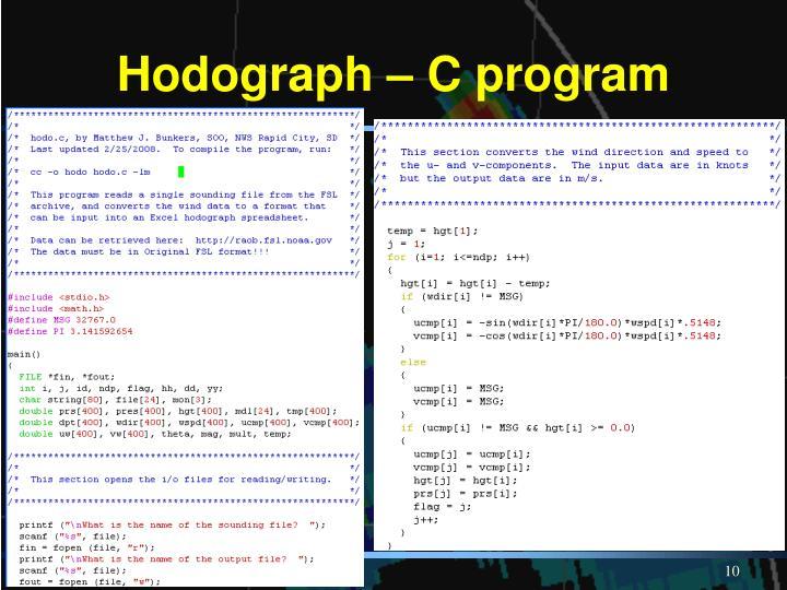 Hodograph – C program