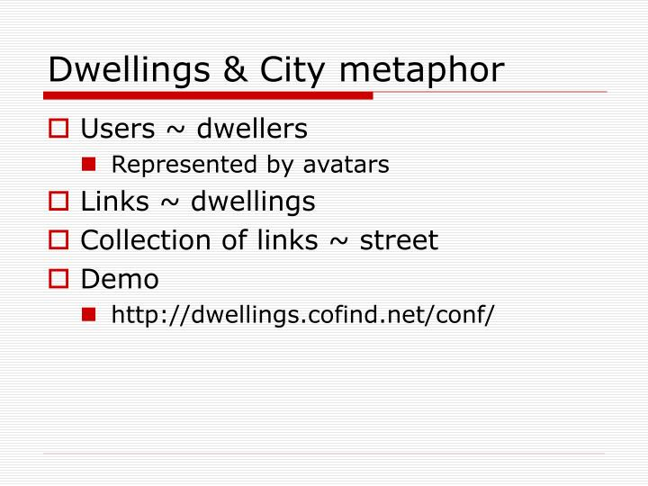 Dwellings & City metaphor