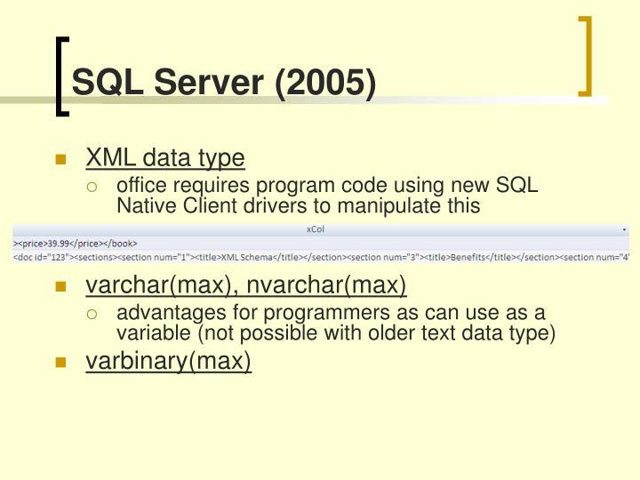 SQL Server (2005)