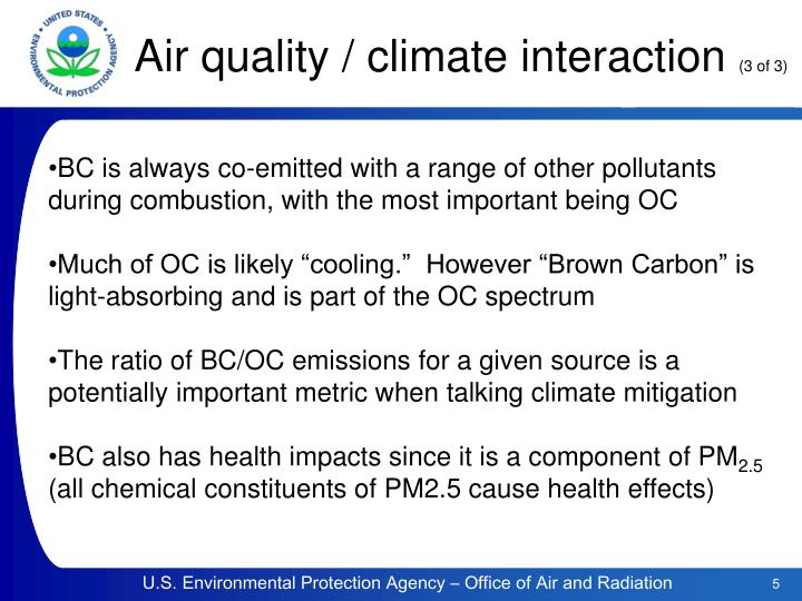 Air quality / climate interaction