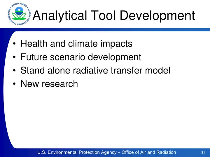 Analytical Tool Development