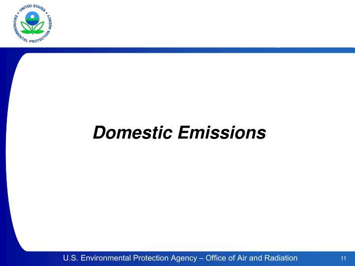 Domestic Emissions