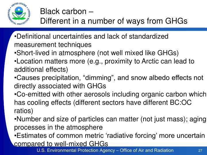 Black carbon –