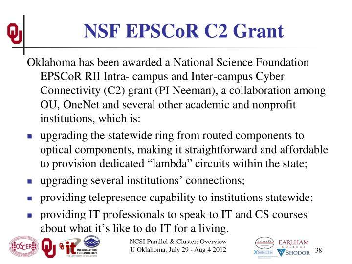 NSF EPSCoR C2 Grant