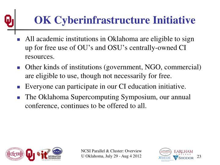 OK Cyberinfrastructure Initiative