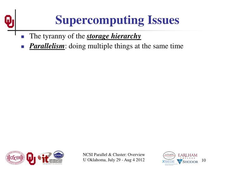 Supercomputing Issues