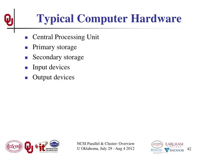 Typical Computer Hardware
