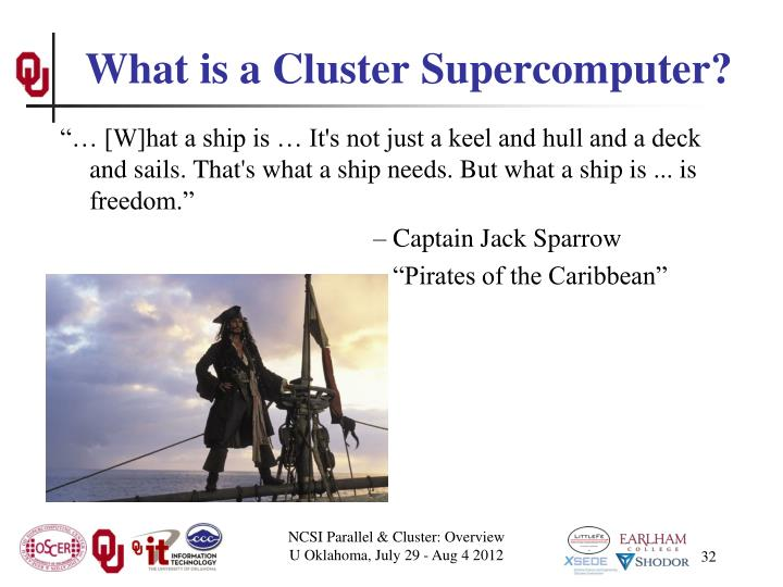 What is a Cluster Supercomputer?