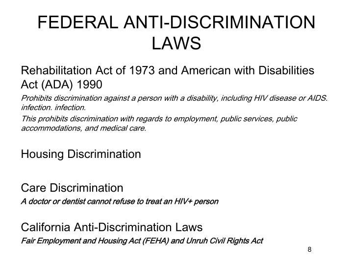 FEDERAL ANTI-DISCRIMINATION LAWS
