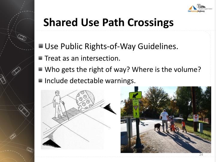 Shared Use Path Crossings