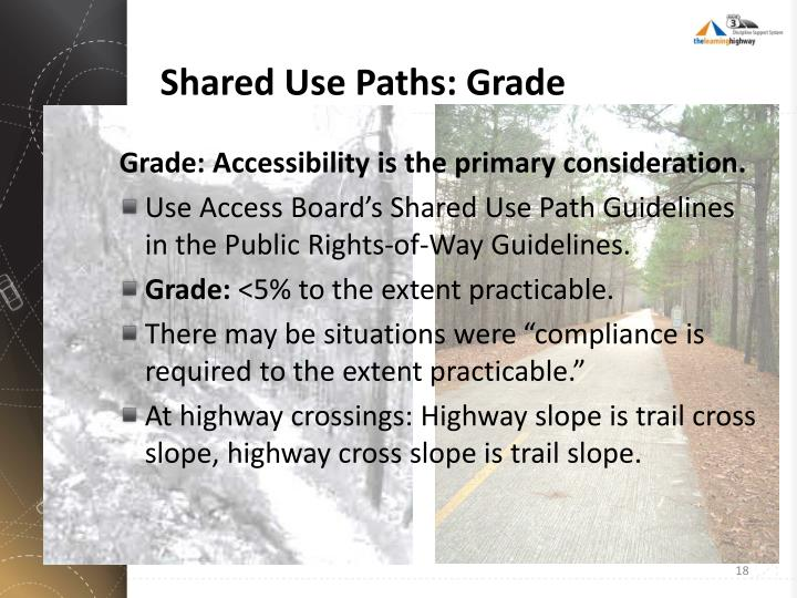 Shared Use Paths: Grade