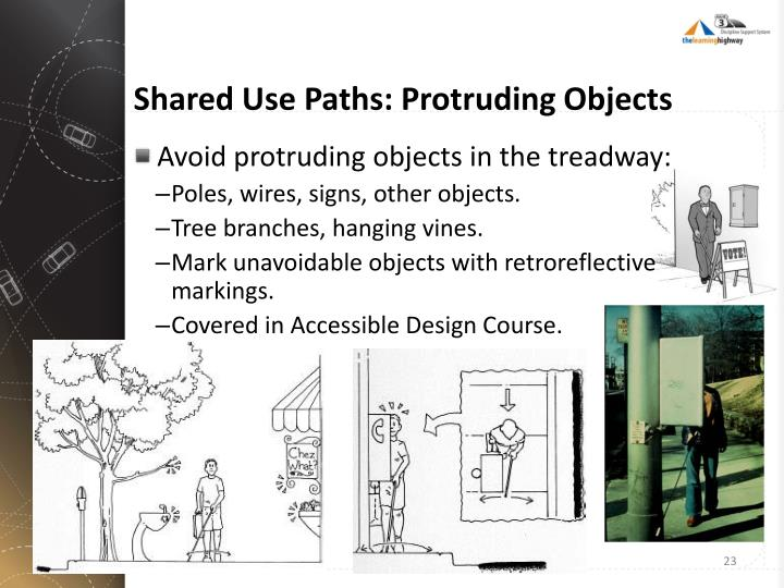 Shared Use Paths: Protruding Objects