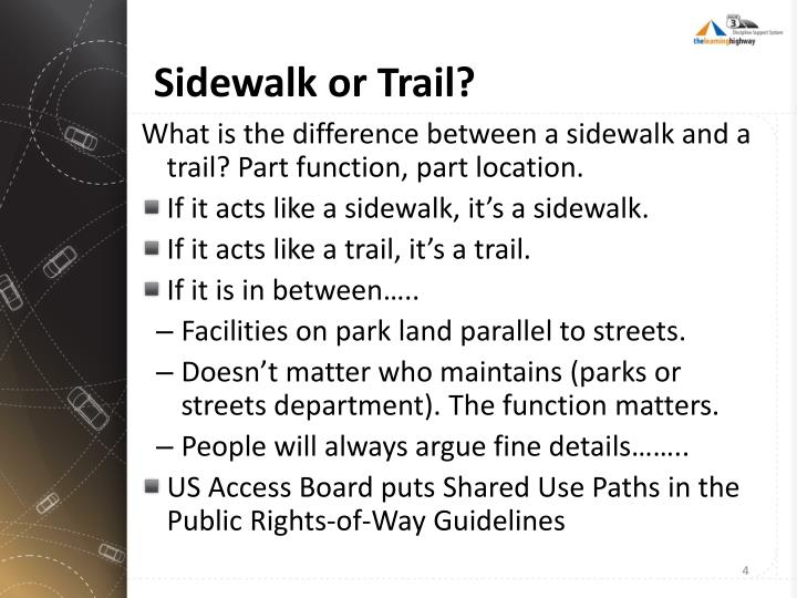 Sidewalk or Trail?