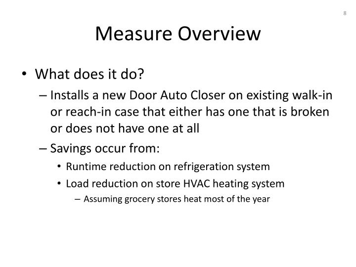 Measure Overview
