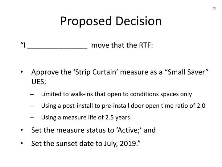 Proposed Decision