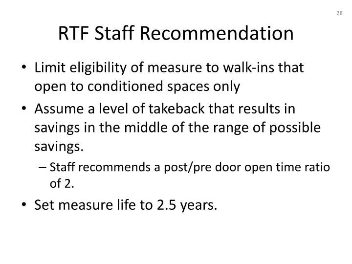 RTF Staff