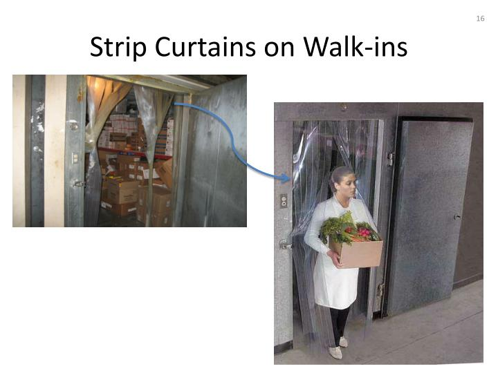 Strip Curtains on Walk-ins