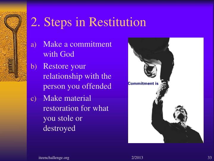 2. Steps in Restitution