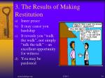 3 the results of making restitution