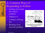 a common ways of responding to failure