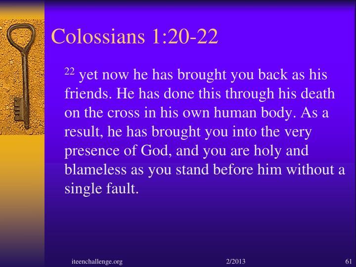 Colossians 1:20-22
