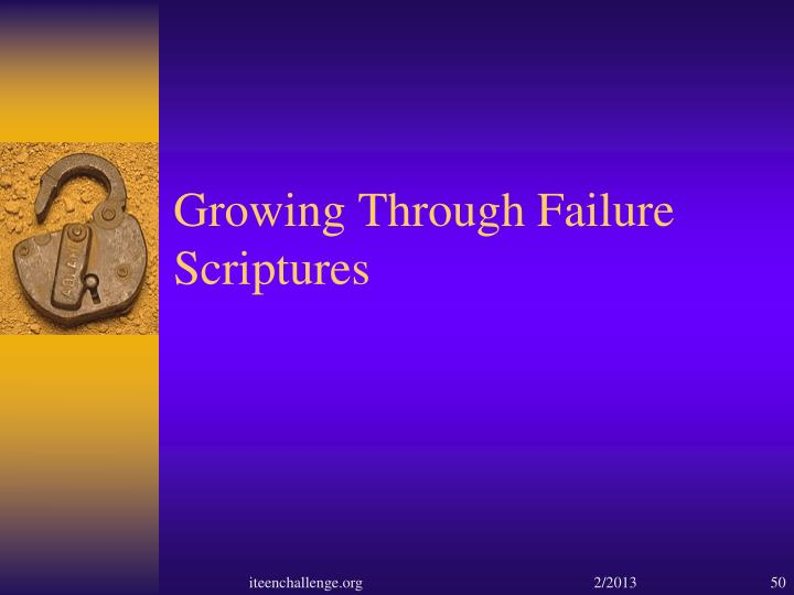 Growing Through Failure
