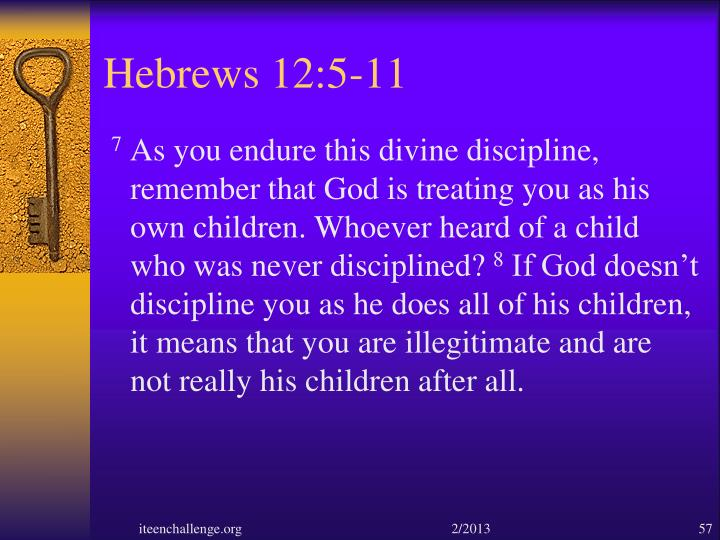 Hebrews 12:5-11