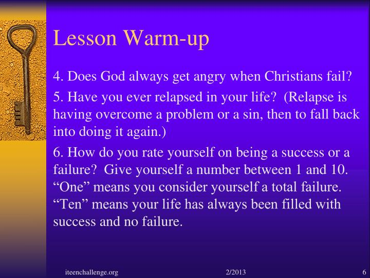 Lesson Warm-up