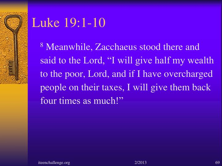 Luke 19:1-10