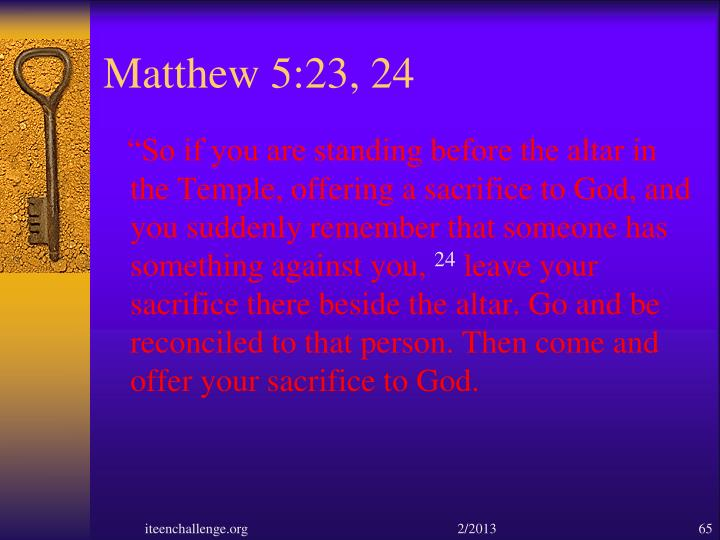 Matthew 5:23, 24