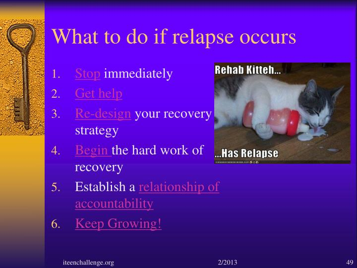 What to do if relapse occurs
