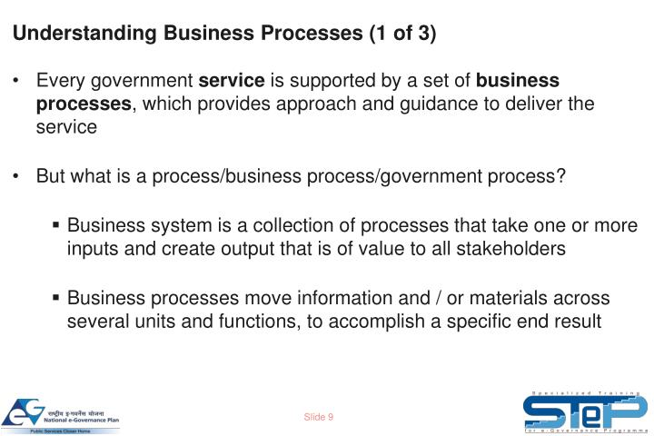 Understanding Business Processes (1 of 3)