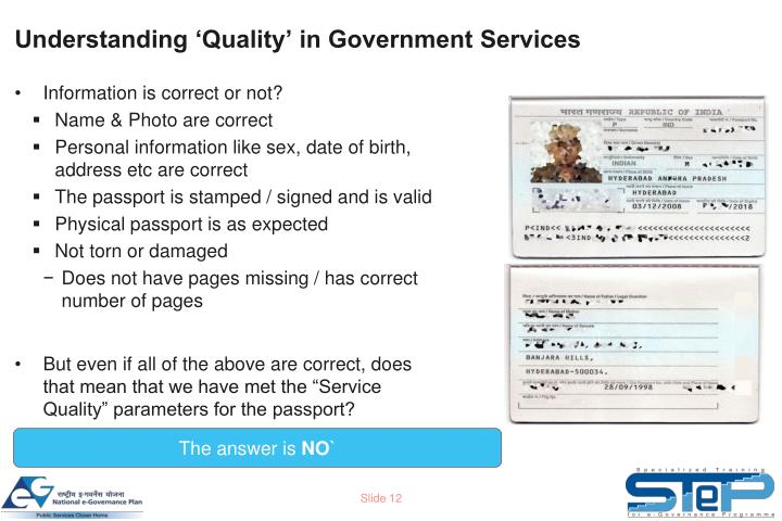 Understanding 'Quality' in Government Services
