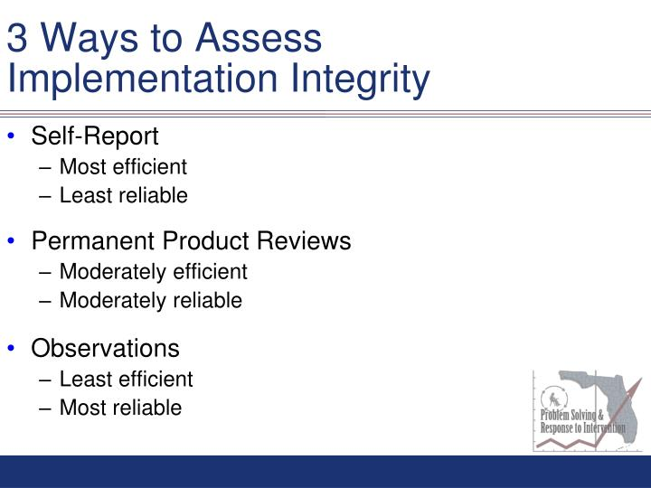 3 Ways to Assess Implementation Integrity
