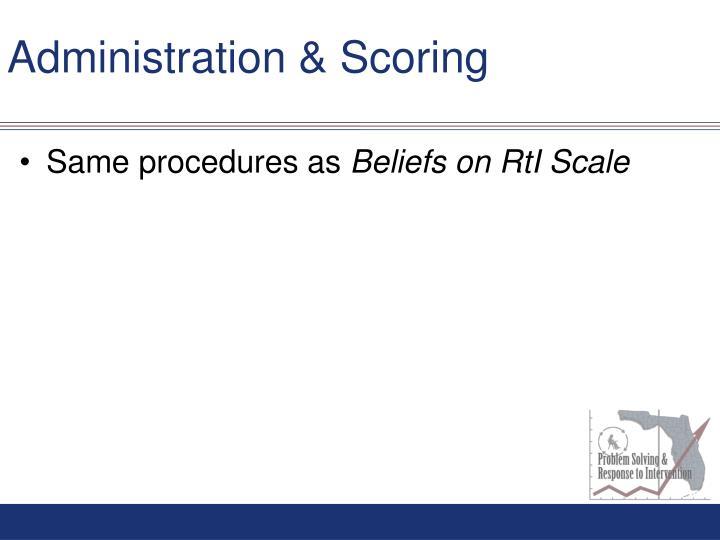 Administration & Scoring