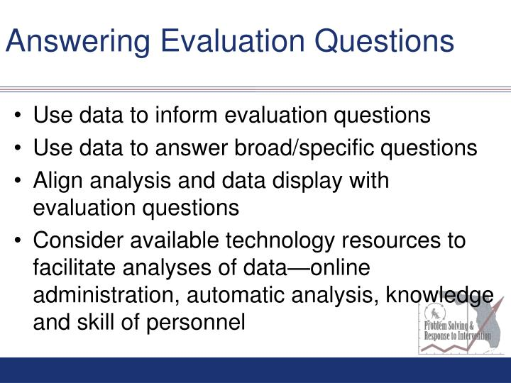 Answering Evaluation