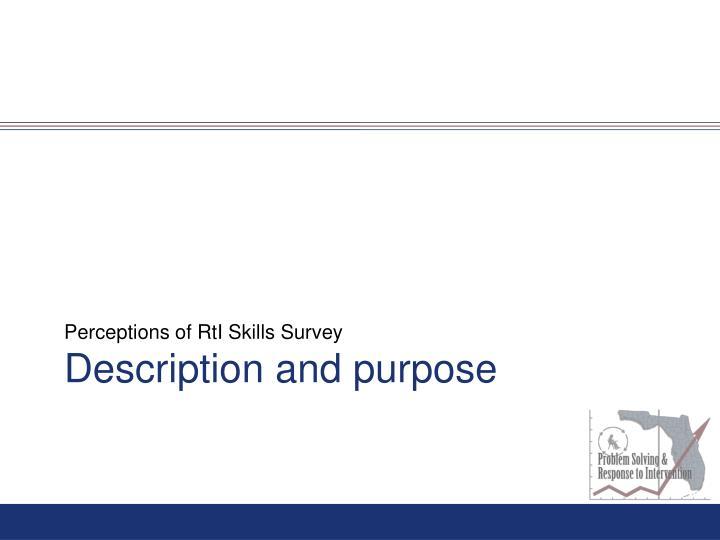 Perceptions of RtI Skills Survey