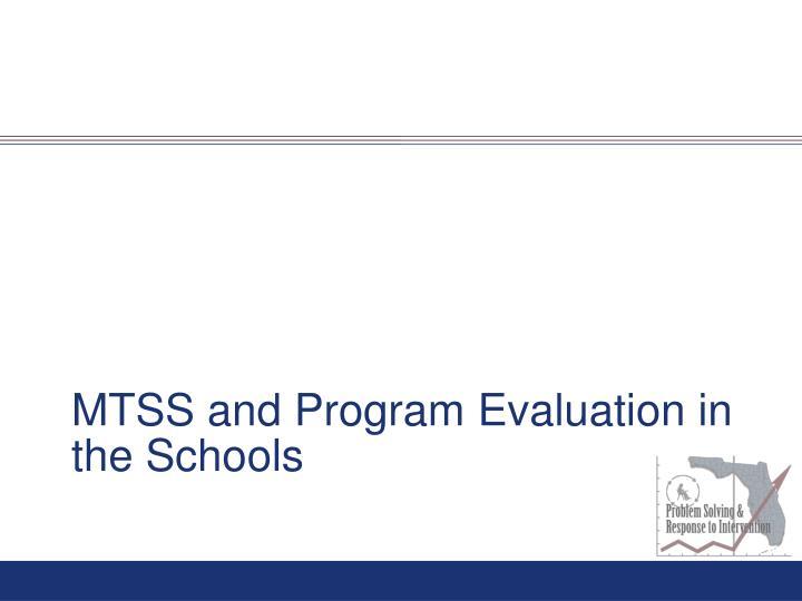 MTSS and Program