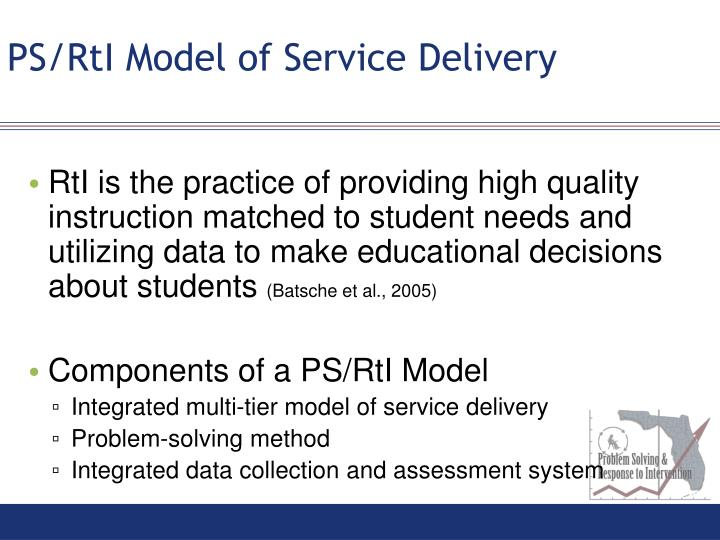 PS/RtI Model of Service Delivery