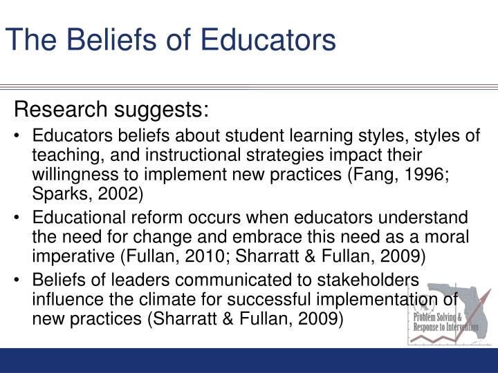The Beliefs of Educators