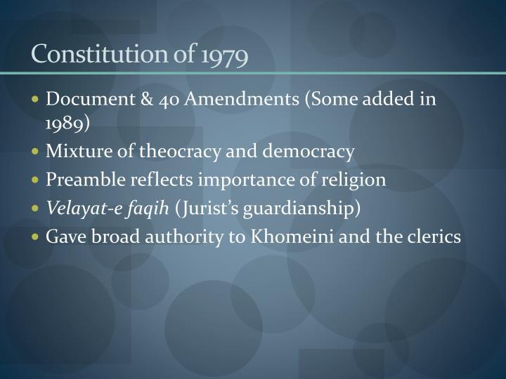 Constitution of 1979