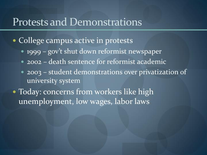 Protests and Demonstrations