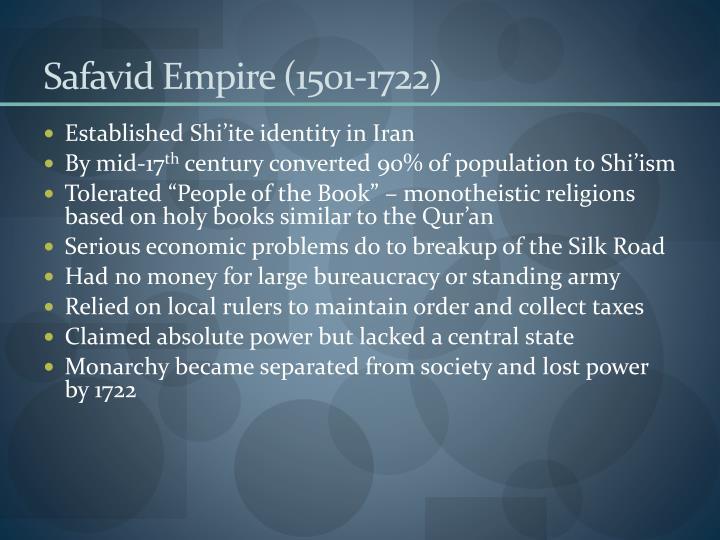 Safavid Empire (1501-1722)